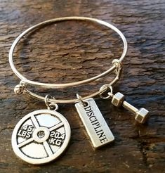 Hey, I found this really awesome Etsy listing at https://www.etsy.com/listing/488990542/discipline-fitness-motivation-bangle