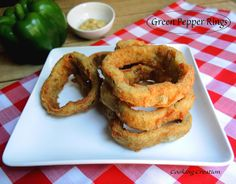 Cooking Creation: Deep Fried Green Pepper Rings Why have I never thought of this?