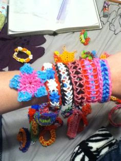 Rubber band bracelets, so much fun!