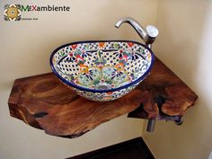 Your specialist for colorful Mexican sinks, Mexican tiles and bunnies. - Home Accessories Best of 2019 Cuba Oval, Spanish Bathroom, Anthropologie Home, Bathroom Sink Vanity, Sinks, Upstairs Bathrooms, Beautiful Bathrooms, Bathroom Interior Design, Colorful Decor