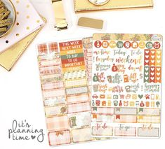 5 Gorgeous Fall Sticker Kits You Need for Your Planner 2018 Custom Planner, Planner Supplies, Strong Love, Love Stickers, Autumn Theme, Erin Condren, Life Planner, Planner Stickers, Pens