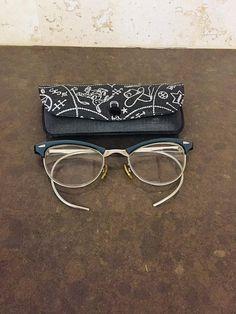 121b2ff2c3f Classic Eyeglasses American Optical Browline Eyewear Wrap Side Arms Vintage
