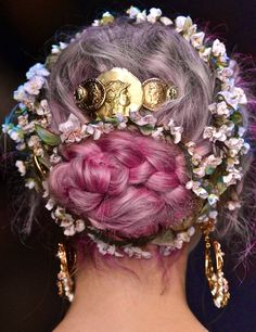 Dolce and gabbana runway hair ♡ Pastell Pink Hair, Purple Hair, Pastel Purple, Pastel Goth, Pretty Hairstyles, Wedding Hairstyles, Hairstyles Haircuts, Braided Hairstyles, Runway Hair