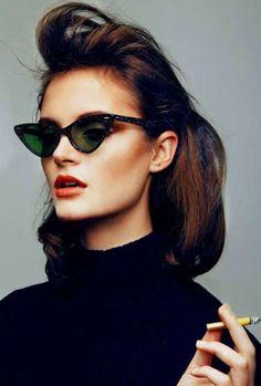 Alice Rosati The Good Girls Lunettes De Soleil Yeux De Chat, Mode Femme  Noire, 0a22377c45c7