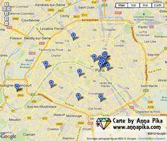boutiques de perles à Paris carte
