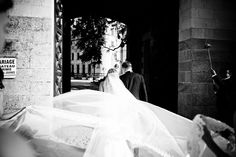 My wedding veil. Chateau Challain Wedding Loire Valley France