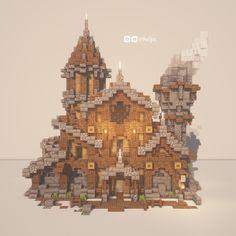 Minecraft Kunst, Minecraft Farm, Minecraft Mansion, Minecraft Cottage, Cute Minecraft Houses, Minecraft Medieval, Minecraft Castle, Minecraft Plans, Minecraft House Designs