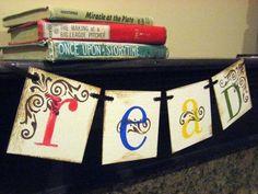 READ Banner, Teacher gift, Classroom Decoration. $15.00, via Etsy.