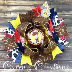 Woody, Toy Story bow, stacked boutique bow, hair bow, Disney, over the top, cowboy, girls hair accessories