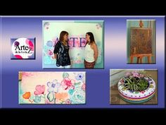 1  Programa ArteZ 18  marzo 2016 Decoupage, Polaroid Film, Tv, Frame, Youtube, Painting, Pintura, Artworks, March