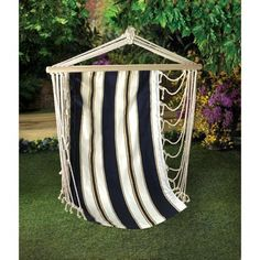 Striped Hanging Chair | Garden Decor | Home Goods Galore