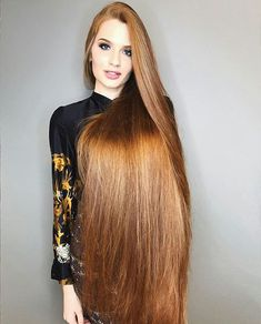 A straight Italian Guy, Lover of Long, Silky Hair. Long Red Hair, Very Long Hair, Braids For Long Hair, Beautiful Red Hair, Rapunzel Hair, Loose Waves Hair, Silky Hair, Hair Lengths, Short Hair Styles