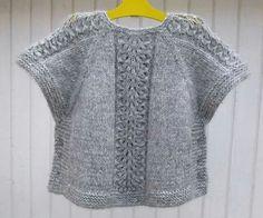Diy Crafts - Ravelry: Ea's Poncho Pattern by Flora Design Knit Vest Pattern, Poncho Knitting Patterns, Crochet Poncho, Diy Crafts Knitting, Knitting For Kids, Free Knitting, Girls Knitted Dress, Bolero, Knit Fashion
