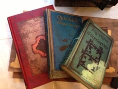 """Harry Potter party decorations - """"aged spell books"""""""