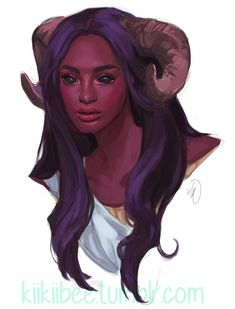 f Tiefling Sorcerer portrait commission for slutmogs of her lovely Tiefling~ Fantasy Character Design, Character Creation, Character Design Inspiration, Character Concept, Character Art, Concept Art, Character Ideas, Dungeons And Dragons Characters, Dnd Characters