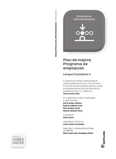 Fichas refuerzo 4 primaria castellano saber hacer