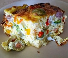 Extra Off Coupon So Cheap Veggie Loaded Breakfast Bake Breakfast Bake, Diet Breakfast, Breakfast Recipes, Breakfast Casserole, Low Carb Recipes, Diet Recipes, Healthy Recipes, Diet Meals, Healthy Foods