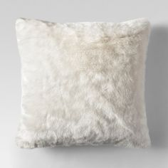 Cream Faux Fur Oversized Throw Pillow - Threshold™ : Target