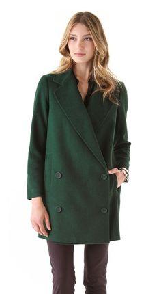 Long Felt Coat by @Tibi New York