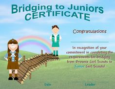 First Year Daisy Daisy Certificate Brownies Certificate Juniors Certificate Alternate Bridging to Brownies and Juniors certificates Scout Mom, Girl Scout Swap, Daisy Girl Scouts, Girl Scout Leader, Girl Scout Troop, Boy Scouts, Brownie Girl Scouts, Girl Scout Cookies, Girl Scout Bridging