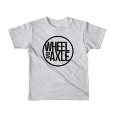 kids logo t-shirt wheelchair clothing by wheel and axle brand