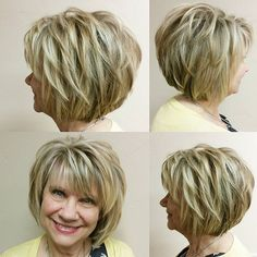 30 popular short hair pictures - New Ideas - 30 Popular Short Layered Hair Images Short layered hair with - Layered Hair With Bangs, Short Layered Haircuts, Layered Bob Hairstyles, Short Layered Bobs, Stacked Haircuts, Med Layered Hair Cuts, Round Face Short Haircuts, Hair Cuts Short Layers, Bob With Layers