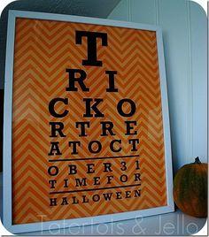 Halloween art print by Tatertots and Jello