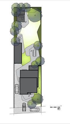 Different Vegetable Gardening Styles Landscape Plans, Garden Landscape Design, Architecture Plan, Landscape Architecture, Rendered Plans, Trees Top View, Narrow Garden, Master Plan, Garden Planning