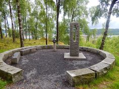 The memory of Utøya. This one is placed in Halden.