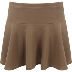 Morgana Plain Short Flared Mini Skirt (£8) ❤ liked on Polyvore featuring skirts, mini skirts, mocha, bodycon skirt, mini skirt, short mini skirts, mini flare skirt and flare skirt
