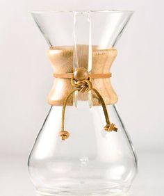 Chemex 8-Cup Classic Series Glass Coffeemaker - http://thecoffeepod.biz/chemex-8-cup-classic-series-glass-coffeemaker/