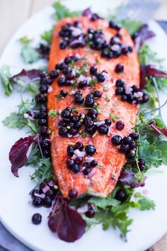 Huckleberry Salmon by feastingathome #Salmon #Huckleberry
