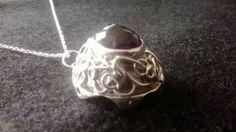 Cheapside hoard influenced silver, amethyst, diamonds, citrines pendant.