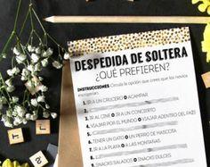 Que prefieren?, despedida de soltera imprimibles, ducha nupcial juegos, ducha nupcial en español, Fiesta de soltera, juegos de boda soltera