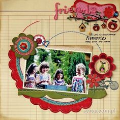 A Project by Anna Zaprzelska from our Scrapbooking Gallery originally submitted at PM Scrapbooking Layouts, Scrapbook Pages, Friend Scrapbook, Diy And Crafts, Paper Crafts, Specialty Paper, All Paper, American Crafts, Great Friends