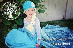 Free Crochet Pattern - Elsa's Braid by Sunset Family Living #free #crochet #pattern