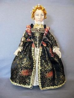 "*NEW* CLOTH ART DOLL PATTERN ""QUEEN ELIZABETH I"" BY CHRISTINE SHIVELY #FancifulClothImages"