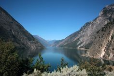 This is Seton Lake in British Columbia Canada. We had visited and spent a night in Whistler, and when we continued our roadtrip to Wells Gray National Park, we had a stop on route BC-99 and saw this beautiful lake. Seton Lake is a freshwater fjord draining east via the Seton River into the Fraser River at the town of Lillooet. The lake is 22 km long, 26.2 square kilometres and it has a depth is 1500 feet.On the right-hand side of the photo, just at the foot of the mountains, you can see…