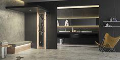DAMPFDUSCHE - Designer Steam showers from Küng Sauna + Spa ✓ all information ✓ high-resolution images ✓ CADs ✓ catalogues ✓ contact information. Bio Sauna, 3d Photo, Interior Decorating, Interior Design, Interior Inspiration, Designer, Bathtub, Mirror, Furniture