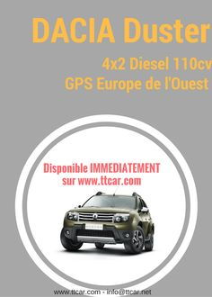 Disponible immédiatement #ttcar #ttcartransit #duster #dacia #eurodrive #expat #expatlife #carhire bit.ly/2erVs2O Peugeot, Volkswagen, Diesel, Dacia Duster, Location, Budget, Diesel Fuel