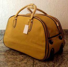 bolsa de viagem amarela - Google Search