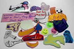 Hand drawn Stickers 2 by Whh0 on Etsy