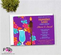 Luau Couples Shower Invitation