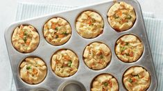 Freezer-Friendly Mini Chicken Pot Pies: all the great flavors of a full-size pie (like our beloved Classic Chicken Pot Pie), but with the added convenience and flexibility of smaller portion sizes. Bake as many as you need at a time for an easy meal! Pie Recipes, Chicken Recipes, Dinner Recipes, Cooking Recipes, Kraft Recipes, Casserole Recipes, Quiche Recipes, Dinner Dishes, Easy Cooking