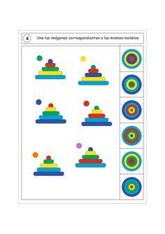 Actividades para trabajar la atención, orientación espacial y la percepción visual -Orientacion Andujar Fun Worksheets For Kids, Fun Activities For Kids, Sensory Activities, Infant Activities, Educational Activities, Logic Games, Logic Puzzles, Critical Thinking Activities, Numbers Preschool