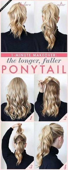 longer ponytail