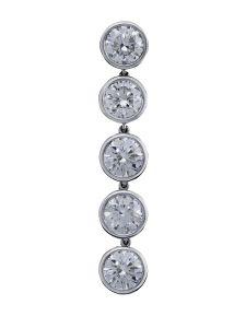 Boucles d'oreilles Montega - Elie Chatila, or blanc, diamants, BOR 800.708