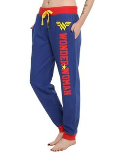 Comfy girls pajama pants from DC Comics with a Wonder Woman themed design and an elastic drawstring waist. 100% cotton Wash cold; dry low Imported Listed in junior sizes