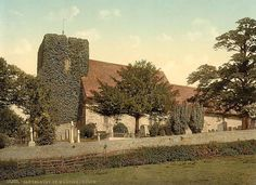 Postcard: St. Martin's Church, Canterbury, Kent. England's oldest parish church in continuous use.