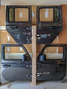 Picture of Measurement Jeep Wrangler Doors, Green Jeep Wrangler, Jeep Doors, Jeep Wrangler Unlimited, Jeep Hardtop Storage, Jeep Racks, Jeep Wrangler Accessories, Jeep Accessories, Jeep Gear